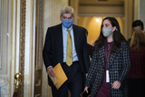 Cassidy Photo - WASHINGTON DC - FEBRUARY 12 Sen Bill Cassidy R-La walks into the Senate Reception room on the fourth day of the Senate Impeachment trials for former President Donald Trump on Capitol Hill on Friday Feb 12 2021 in Washington DC Credit Jabin Botsford  Pool via CNPAdMedia