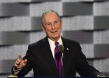 Mayor Michael Bloomberg Photo - Former New York City Mayor Michael Bloomberg makes remarks during the third session of the 2016 Democratic National Convention at the Wells Fargo Center in Philadelphia Pennsylvania on Wednesday July 27 2016 Photo Credit Ron SachsCNPAdMedia