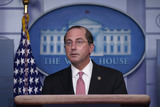 Alex Azar Photo - United States Secretary of Health and Human Services (HHS) Alex Azar participates in a briefing with members of the White House Coronavirus Task Force at the White House in Washington DC November 19 2020 Credit Chris Kleponis  Pool via CNPAdMedia