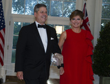 Maria Bartiromo Photo - Maria Bartiromo and Jonathan Steinberg arrive for the State Dinner hosted by United States President Donald J Trump and First lady Melania Trump in honor of Prime Minister Scott Morrison of Australia and his wife Jenny Morrison at the White House in Washington DC on Friday September 20 2019 Credit Ron SachsCNPAdMedia