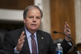 Doug Jones Photo - United States Senator Doug Jones (Democrat of Alabama) asks a question during a US Senate Senate Health Education Labor and Pensions Committee Hearing to examine COVID-19 focusing on an update on the federal response at the US Capitol on September 23 2020 in Washington DCCredit Alex Edelman  Pool via CNPAdMedia
