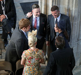 Sir Elton John Photo - 19 May 2018 - David and Victoria Beckham with Sir Elton John David Furnish Sofia Wellesley and James Blunt Guests arrive at Windsor Castle for the wedding of Meghan Markle and Prince Harry Photo Credit ALPRAdMedia