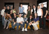 Alyssa Bonagura Photo - July 26 2011 - Nashville TN - (back row l-r) Name unknown Bill Lloyd Jeff TaylorJim Hoke Brent Anderson Alyssa Bonagura Michael Bonagura Cynthia Martinez and John Jorgenson (front row l-r) Vince Gill Mark Selby Buddy Greene Pete Huttlinger Kathy Baillie and Sean Della Croce Artists musicians and songwriters came together at Mercy Lounge to help raise funds for Pete Huttlinger a widely respected guitarist and Nashville studio artist  Huttlinger has a congenital heart disease and is in need of a heart transplant Photo credit Dan HarrAdmedia
