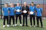 Tom Davis Photo - 30012020 - Prince William Duke Of Cambridge Everton FC Seamus Coleman Tom Davies Jordan Pickford Theo Walcott and Dominic Calvert Lewin during his visit Everton Football Club official charity Everton in the Community as part of the Heads Up campaign in Liverpool Photo Credit ALPRAdMedia