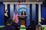 Executive Director Photo - Co-Chair of the Gender Policy Council and Chief of Staff to the First Lady Julissa Reynoso joined by Co-Chair and Executive Director of the Gender Policy Council Jennifer Klein during a press briefing at the White House in Washington DC on Monday March 8 2021 Today President Biden signed an executive order on to establish the Gender Policy Council that will work to advance gender equalityCredit Kevin Dietsch  Pool via CNPAdMedia
