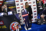Mayor Michael Bloomberg Photo - OXON HILL Md - FEBRUARY 27 Erin Demma stands with a cut out of Democratic Presidential hopeful former New York City Mayor Michael Bloomberg at the Conservative Political Action Conference CPAC 2020 in Oxon Hill Md on Thursday February 27 2020Credit Samuel Corum  CNPAdMedia
