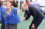 David Attenborough Photo - 26092019 - Prince William Duke of Cambridge meets school children on the deck during the naming ceremony of Britains new polar research ship the RRS Sir David Attenborough at Camel Laird Shipyard in Birkenhead Merseyside Photo Credit ALPRAdMedia