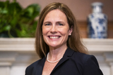 The Used Photo - United States Supreme Court nominee Judge Amy Coney Barrett meets with US Senator Martha McSally (Republican of Arizona) (not pictured) in the US Capitol in Washington DC USA 21 October 2020Credit Jim LoScalzo  Pool via CNPAdMedia