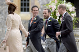 Prince William Photo - 20 May 2017 - Nina Mackie with her brother and best man Spencer Matthews James Middleton and Prince William Duke of Cambridge at the wedding of James Matthews and Pippa Middleton at St Marks Church Englefield Berkshire UK Photo Credit ALPRAdMedia