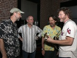 Jeff Taylor Photo - July 26 2011 - Nashville TN - Jeff Taylor Buddy Greene Jim Hoke and Sam Bush Artists musicians and songwriters came together at Mercy Lounge to help raise funds for Pete Huttlinger a widely respected guitarist and Nashville studio artist  Huttlinger has a congenital heart disease and is in need of a heart transplant Photo credit Dan HarrAdmedia