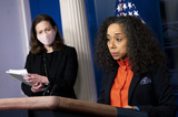 Executive Director Photo - Co-Chair of the Gender Policy Council and Chief of Staff to the First Lady Julissa Reynoso speaks alongside Co-Chair and Executive Director of the Gender Policy Council Jennifer Klein during a press briefing at the White House in Washington DC on Monday March 8 2021 Today President Biden signed an executive order on to establish the Gender Policy Council that will work to advance gender equality Credit Kevin Dietsch  Pool via CNPAdMedia