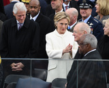Bill Clinton Photo - Former President Bill Clinton (L) and Hillary Clinton greet guests at inauguration on January 20 2017 in Washington DC  Donald Trump becomes the 45th President of the United States Photo Credit Kevin DietschCNPAdMedia