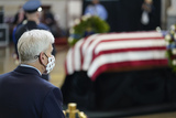 Bill Cassidy Photo - United States Senator Bill Cassidy (Republican of Louisiana) pays his respects to slain US Capitol Police officer William Billy Evans lies in honor during a ceremony at the Capitol in Washington Tuesday April 13 2021 Credit Susan Walsh  Pool via CNPAdMedia