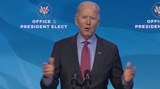 Queen Photo - United States President-elect Joe Biden delivers remarks introducing key members of his economic and jobs team from the Queen Theatre in Wilmington Delaware on Friday January 8 2021 Credit Biden Transition TV via CNPAdMedia
