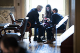 Cassidy Photo - WASHINGTON DC - FEBRUARY 12 Sen Bill Cassidy R-La talks with staff in the Senate Reception room on the fourth day of the Senate Impeachment trials for former President Donald Trump on Capitol Hill on Friday Feb 12 2021 in Washington DCCredit Jabin Botsford  Pool via CNPAdMedia