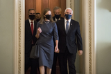 The Unit Photo - Amy Coney Barrett nominee for Associate Justice of the Supreme Court of the United States arrives with Vice President Mike Pence at the US Capitol for a day of meetings with senators in Washington DC Tuesday September 29 2020Credit Rod Lamkey  Consolidated News PhotosAdMedia