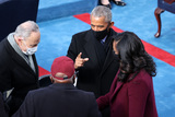 Barack Obama Photo - WASHINGTON DC - JANUARY 20 Former US President Barack Obama greets Senate Minority Leader Chuck Schumer (D-NY) and Rep Jim Clyburn (D-SC) as he and former first lady Michelle Obama arrive to the inauguration of US President-elect Joe Biden on the West Front of the US Capitol on January 20 2021 in Washington DC  During todays inauguration ceremony Joe Biden becomes the 46th president of the United States (Photo by Tasos KatopodisGetty Images)AdMedia