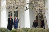 Juanes Photo - United States President Donald J Trump left and Venezuelan opposition leader Juan Guaido stand for a photo as they walk to the Oval Office at the White House in Washington DC US on Wednesday February 5 2020Credit Stefani Reynolds  CNPAdMedia