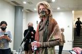 alaska Photo - Sen Lisa Murkowski (R-Alaska) addresses reporters in the basement of the Capitol while Senators break for dinner during the second day of the impeachment trial of former President Donald Trump on Wednesday February 10 2021Credit Greg Nash - Pool via CNPAdMedia