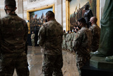 The Used Photo - National Guard troops pay their respects as the late Officer William Billy Evans lies in honor in the Rotunda of the US Capitol in Washington DC on April 13th 2020Credit Anna Moneymaker  Pool via CNPAdMedia