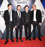Andy Hurley Photo - 4 November 2015 - Nashville Tennessee - Joe Trohman Andy Hurley Patrick Stump Pete Wentz Fall Out Boy 49th CMA Awards Country Musics Biggest Night held at Bridgestone Arena Photo Credit Laura FarrAdMedia