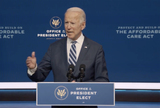 Queen Photo - In this image from the Biden Presidential Transition video feed United States President-elect Joe Biden makes a statement on the Affordable Care Act at the Queen Theatre in Wilmington Delaware on Friday November 6 2020Credit Biden Presidential Transition via CNPAdMedia