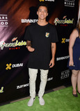 Nyjah Huston Photo - 13 August 2015 - Los Angeles California - Nyjah Huston Arrivals for the world premiere of Mountain Dew Green Label Films and Brain Farms We Are Blood held at The Theater at The Ace Hotel Photo Credit Birdie ThompsonAdMedia