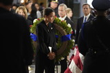 Alexandria Ocasio-Cortez Photo - United States Representative Alexandria Ocasio-Cortez (Democrat of New York) visits the flag-draped casket of US Representative Elijah Cummings (Democrat of Maryland) after a memorial service in Statuary Hall of the US Capitol on Capitol Hill in Washington DC October 24 2019 Credit Joshua Roberts  Pool via CNPAdMedia