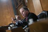 Doug Jones Photo - United States Senator Doug Jones (Democrat of Alabama) speaks as Judy Shelton and Dr Christopher Waller nominees to be on the Board of Governors of the Federal Reserve System testify before the US Senate Committee on Banking Housing and Urban Affairs at the United States Capitol in Washington DC US on Thursday February 13 2020Credit Stefani Reynolds  CNPAdMedia