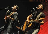 The Avett Brothers Photo - 27 May 2011 - Pittsburgh PA - Vocalistguitarist SETH AVETT and vocalistbanjo player SCOTT AVETT of the band THE AVETT BROTHERS performs to a Sold Out crowd at a stop on their Summer Camp 2011 Tour held at Stage AE  Photo Credit Jason L NelsonAdMedia