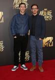 Andy Samberg Photo - 09 April 2016 - Burbank California - Andy Samberg Jorma Taccone 2016 MTV Movie Awards held at Warner Bros Studios Photo Credit SammiAdMedia