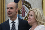 The Ceremonies Photo - Gene Scalia and spouse Patricia Scalia participate in the Ceremonial Swearing-In of Gene Scalia as the Secretary of Labor at the White House September 30 2019 Photo Credit Chris KleponisCNPAdMedia