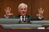 Alabama Photo - United States House Education and Labor Committee   Workforce Protections Subcommittee ranking member US Representative Bradley Byrne (Republican of Alabama) questions witnesses during a hearing about the federal governments role in protecting workers during the coronavirus pandemic on Capitol Hill May 28 2020 in Washington DC More than 62000 health care workers have been infected with COVID-19 and close to 300 have died according to the US Centers for Disease Control Credit Chip Somodevilla  Pool via CNPAdMedia