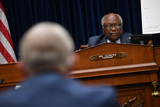 The National Photo - United States House Assistant Democratic Leader James Clyburn (Democrat of South Carolina) listens to testimony during a House Subcommittee on the Coronavirus Crisis hearing on a national plan to contain the COVID-19 pandemic on Capitol Hill in Washington DC on Friday July 31 2020  Dr Anthony Fauci director of the National Institute for Allergy and Infectious Diseases Dr Robert Redfield director of the Centers for Disease Control and Prevention (CDC) and Adm Brett Giroir Assistant Secretary of Health and Human Services for Health testified before the committeeCredit Kevin Dietsch  Pool via CNPAdMedia