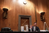 Alex Wong Photo - Acting United States Secretary of Homeland Security Chad F Wolf testifies during a hearing before Senate Homeland Security and Governmental Affairs Committee at Dirksen Senate Office Building August 6 2020 on Capitol Hill in Washington DC The committee held a hearing on Oversight of DHS Personnel Deployments to Recent Protests Credit Alex Wong  Pool via CNP