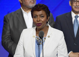 Yvette Clarke Photo - United States Representative Yvette Clarke (Democrat of New York)  makes remarks during the third session of the 2016 Democratic National Convention at the Wells Fargo Center in Philadelphia Pennsylvania on Wednesday July 27 2016 Photo Credit Ron SachsCNPAdMedia