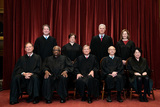 The Unit Photo - Members of the Supreme Court pose for a group photo at the Supreme Court in Washington DC on April 23 2021 Seated from left Associate Justice of the Supreme Court Samuel A Alito Jr Associate Justice of the Supreme Court Clarence Thomas Chief Justice of the United States John G Roberts Jr Associate Justice of the Supreme Court Stephen G Breyer and Associate Justice of the Supreme Court Sonia Sotomayor Standing from left Associate Justice of the Supreme Court Brett Kavanaugh Associate Justice of the Supreme Court Elena Kagan Associate Justice of the Supreme Court Neil M Gorsuch and Associate Justice of the Supreme Court Amy Coney Barrett Credit Erin Schaff  Pool via CNPAdMedia