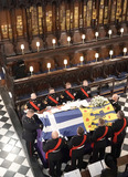 Prince Photo - Photo Must Be Credited Alpha Press 073074 17042021Queen Elizabeth II during the funeral of Prince Philip Duke of Edinburgh at St Georges Chapel in Windsor Castle in Windsor Berkshire No UK Rights Until 28 Days from Picture Shot Date AdMedia