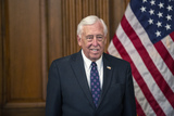 The Ceremonies Photo - United States House Majority Leader Steny Hoyer (Democrat of Maryland) participates in the ceremonial swearing-in of United States Representative Kweisi Mfume (Democrat of Maryland) at the United States Capitol in Washington DC US on Tuesday May 5 2020  Credit Stefani Reynolds  CNPAdMedia