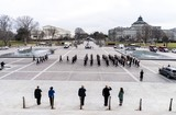 Nas Photo - WASHINGTON DC - JANUARY 18 2021 On the East Front steps of the US Capitol lined by Honor Guard during Pass Review lawmakers staff and Sergeant at Arms staff run through the movements during rehearsal for Wednesdays 59th Inauguration Ceremonies on Capitol Hill in Washington DC Monday January 18 2021 Credit Melina Mara  Pool via CNPAdMedia