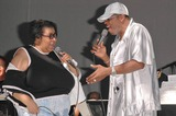 Ali Ollie Woodson Photo - Aretha Franklin and Ali Ollie Woodson at the sound check rehearsal for Arethas concert at the Greek Theatre Los Angeles CA 09-17-04