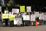 Casey Kasem Photo - Detective Ted Ball Wafa Kanan Josh Summers Eilene Olsen Charles Olsen Kerri Kasem Jesse Kove Mouner Kasem Don Bustany Jason Thomas Gordon Rana Makaremat a protest involving Casey Kasems children brother and friends who want to see him but have been denied any contact  Private Location Holmby Hills CA 10-01-13