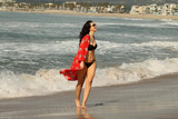 Natasha Blasick Photo - Natasha Blasickthe All Star Weekend Actress is spotted having fun in a tiny black bikini at the beach on a hot Southern California day Malibu CA 09-09-18
