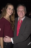Cheyenne Silver Photo -  Cheyenne Silver and Hugh Hefner at the party and fashion show for the documentary The Girl Next Door about a housewife turned adult film actress West Hollywood 05-09-00