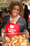 Michaela Pereira Photo - Michaela Pereira at the Thanksgiving Meal for the Homeless at the Los Angeles Mission Los Angeles CA 11-24-04