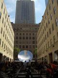 Anish Kapoor Photo - Anish Kapoor Sky Mirrorat the Channel Gardens in Rockefeller Center New York 10-27-06