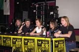 Cliff Williams Photo -  Cliff Williams Brian Johnson Angus Young Malcolm Young Phil Rudd at the ceremony where they were inducted into Sunset Blvds Rockwalk 09-15-00