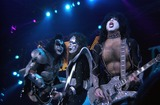 Ace Frehley Photo -  Gene Simmons Ace Frehley and Paul Stanley of KISS at the Anaheim Pond 03-18-00 on the Farewell Tour