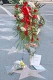 Janet Leigh Photo - A wreath of flowers and fan tributes to actress Janet Leigh on her Hollywood Walk of Fame Star on Vine Street Hollywood CA 10-04-04
