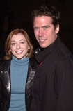 Alexis Denisof Photo -  Alyson Hannigan and Alexis Denisof at the fashion show and premiere for Artisan Entertainments Center Of The World at the Las Palmas Club Hollywood 04-17-01